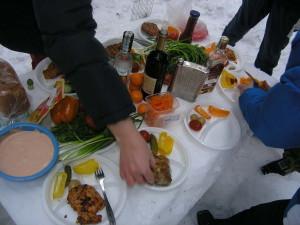 пикник зимой