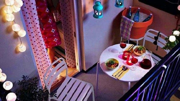 романтический ужин в палатке