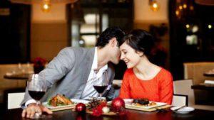романтика в ресторане