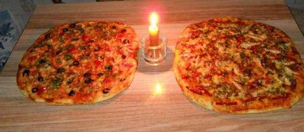 пицца для романтического ужина