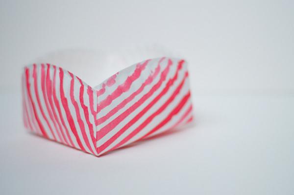 корзины из бумажной тарелки