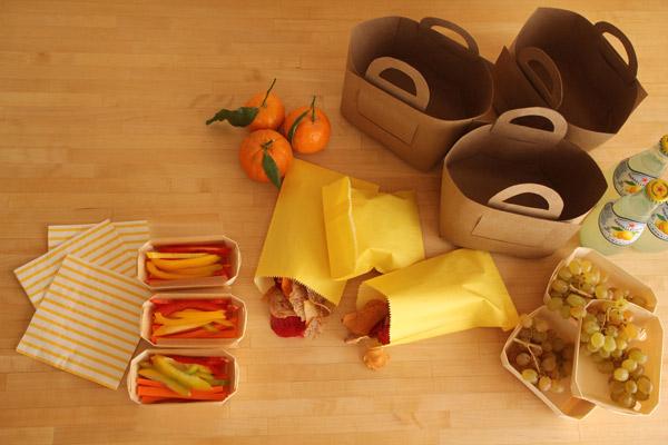 корзина из бумаги для пикника