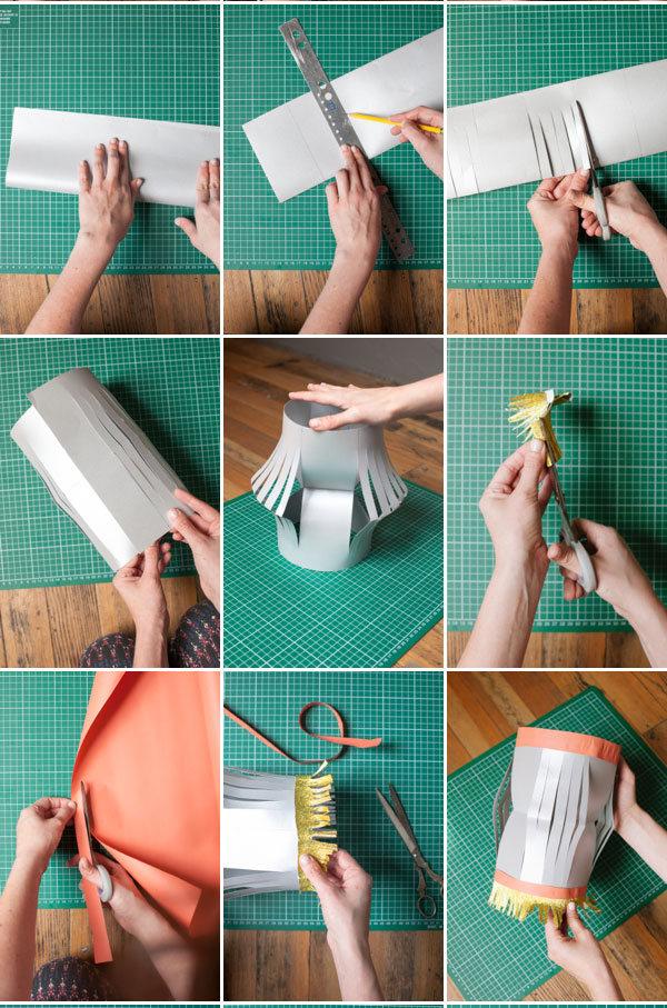фонарики из бумаги для праздника