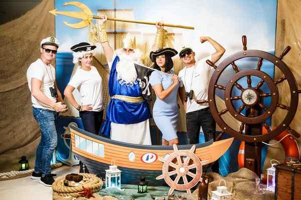 вечеринка в морском стиле