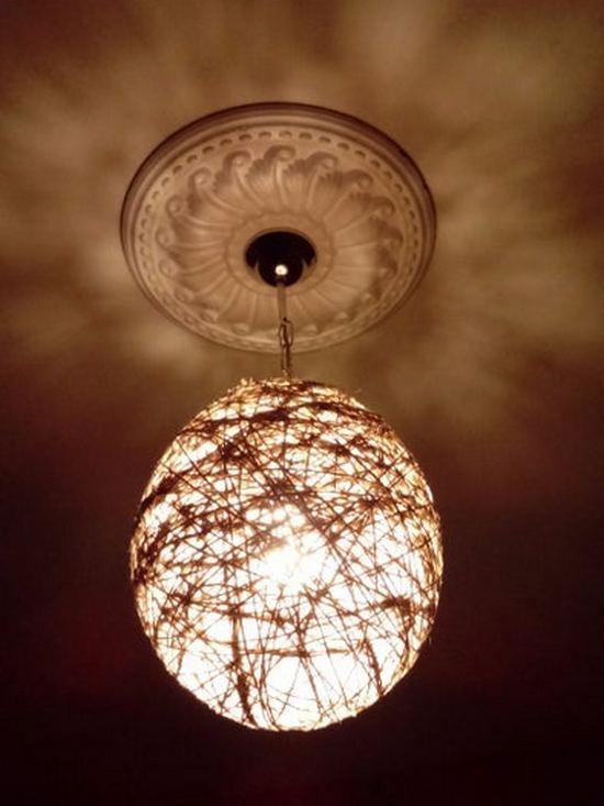 фонарики из пряжи
