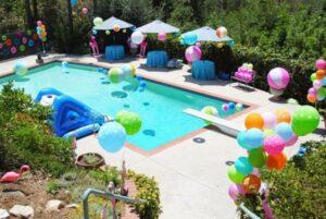 летняя вечеринки у бассейна